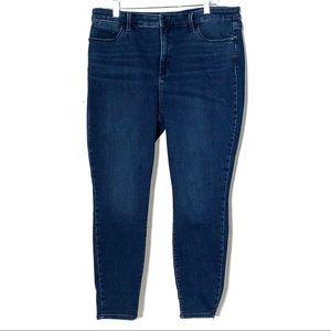 Talbots High Waist Jegging Ankle Jeans Med Wash
